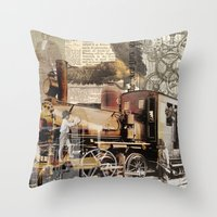 industrial Throw Pillows featuring Industrial by victorygarlic