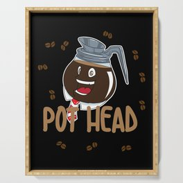 Funny Coffee Bean Pot Head Serving Tray