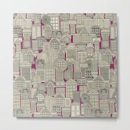 windows pink Metal Print