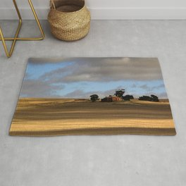 Rural Landscape and Farmhouse in Australia Rug