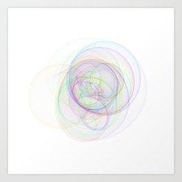 Rainbow Rings 1 Art Print