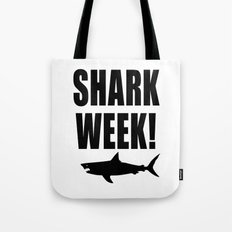 Shark week (on white) Tote Bag