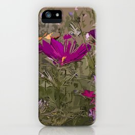 Wild Flowerbed 3 iPhone Case