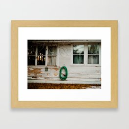 Green Circle Framed Art Print