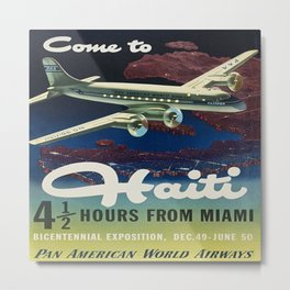 Vintage poster - Haiti Metal Print