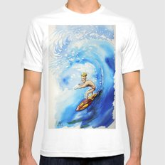 Surfer Mens Fitted Tee MEDIUM White