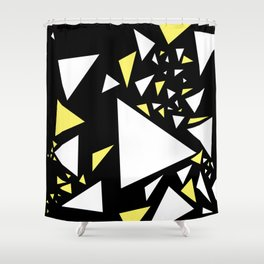 Triangles 3 Shower Curtain