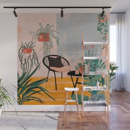 Urban jungle balcony Wall Mural