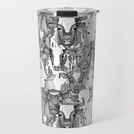 just ox black white Travel Mug