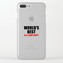 worlds best accountant Clear iPhone Case
