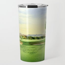 Carnoustie Golf Course Scotland 13th Green Travel Mug
