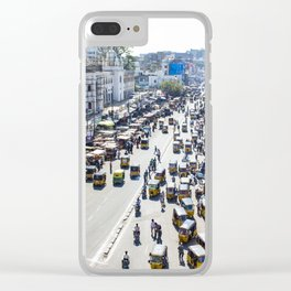 View of the Busy Roads from the Charminar in India Clear iPhone Case