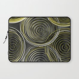 Black, white and yellow spiraled coils Laptop Sleeve