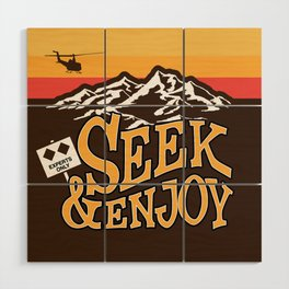 Seek & Enjoy Wood Wall Art
