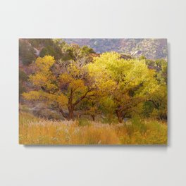 Trees In Zion Metal Print