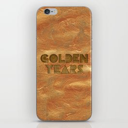 Golden Years – Gold iPhone Skin