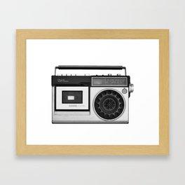 cassette recorder / audio player - 80s radio Framed Art Print