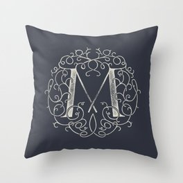 """M""ONOGRAM Throw Pillow"