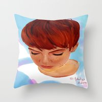ginger Throw Pillows featuring Ginger by Adelys