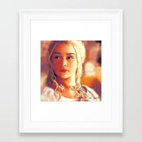 mother of dragons Framed Art Prints featuring Mother of Dragons by markclarkii