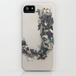 Letter J in Paint iPhone Case