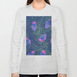 Neon Strawberries in the Night #1 Long Sleeve T-shirt