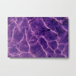 Ultra violet Pattern of ripple wave Metal Print
