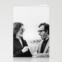 annie hall Stationery Cards featuring ANNIE HALL by Coco Dávez