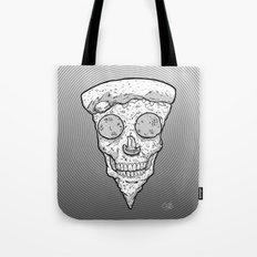Skull Slice BW Tote Bag