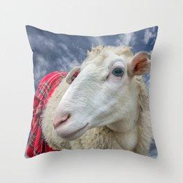 Beautiful sheep Throw Pillow