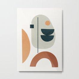 Minimal Shapes No.37 Metal Print