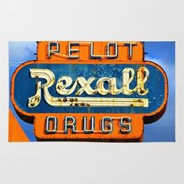 Rexall Drugs sign circa 1950s Rug