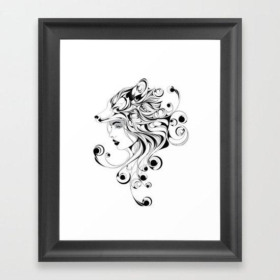 Fox Girl Framed Art Print