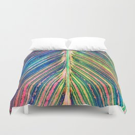 503 - Canna Leaf Abstract Duvet Cover