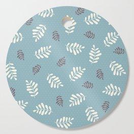 Falling Leaves – Blue Cutting Board