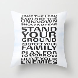 Stand your ground by Brian Vegas Throw Pillow