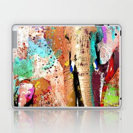 African Elephant Family Painting Laptop & iPad Skin