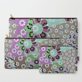 Winter Daisy patch Carry-All Pouch