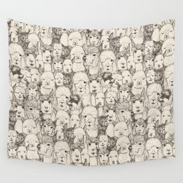just alpacas natural Wall Tapestry