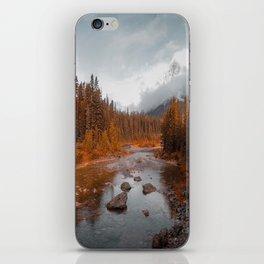 Mountain river iPhone Skin