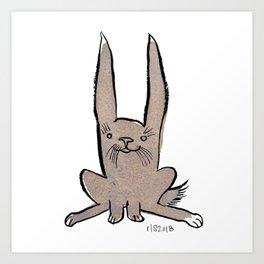 Hoppy Little Rabbit Art Print