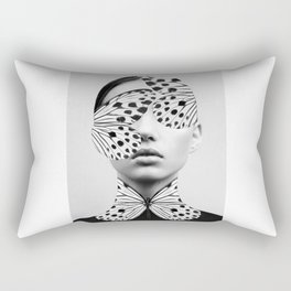 Woman Butterfly Rectangular Pillow