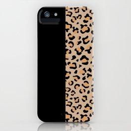 Animal Print, Leopard Spots - Brown Black iPhone Case