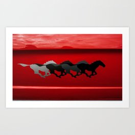 Horse Power Art Print