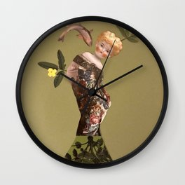 Old doll Wall Clock
