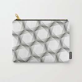 crazy hexagons Carry-All Pouch