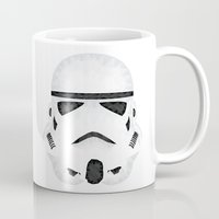 storm trooper Mugs featuring Trooper by Charles Dew