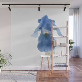 Blue Iris Inversion Wall Mural