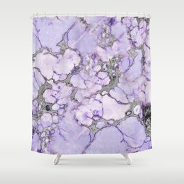 Lavender Marble Shower Curtain