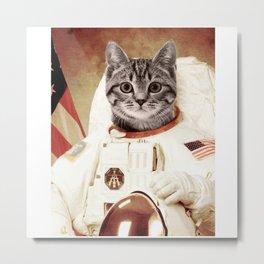 meow astronout Metal Print